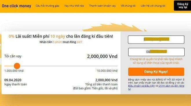 vay tien one click money