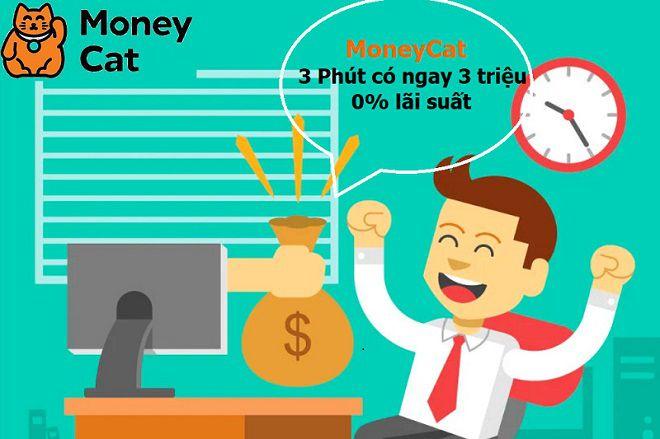 Money Cat hỗ trợ khoản vay 3 triệu đồng lãi suất 0% cho khách hàng lần đầu tiên đăng ký