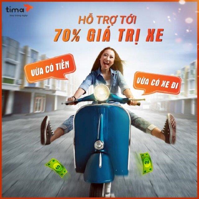 Cầm cavet xe máy tại Tima hạn mức cao