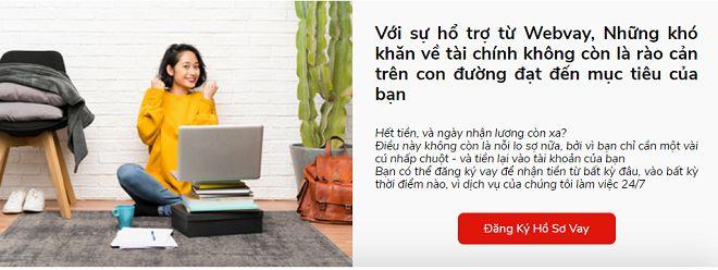 Vay tiền nhanh WebVay với nhiều ưu điểm