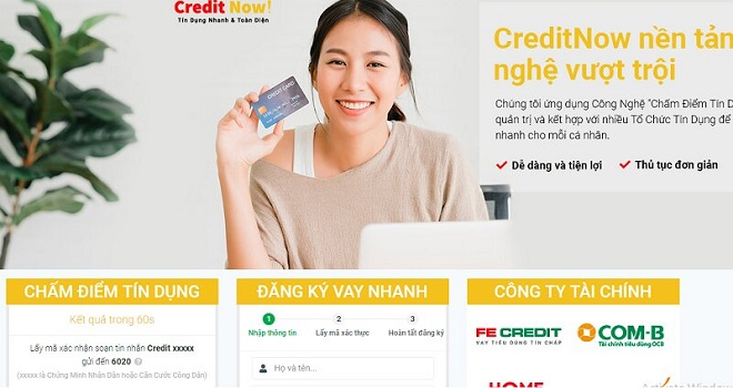 Vay tiền CreditNow với công nghệ chấm điểm tín dụng hiện đại, uy tín