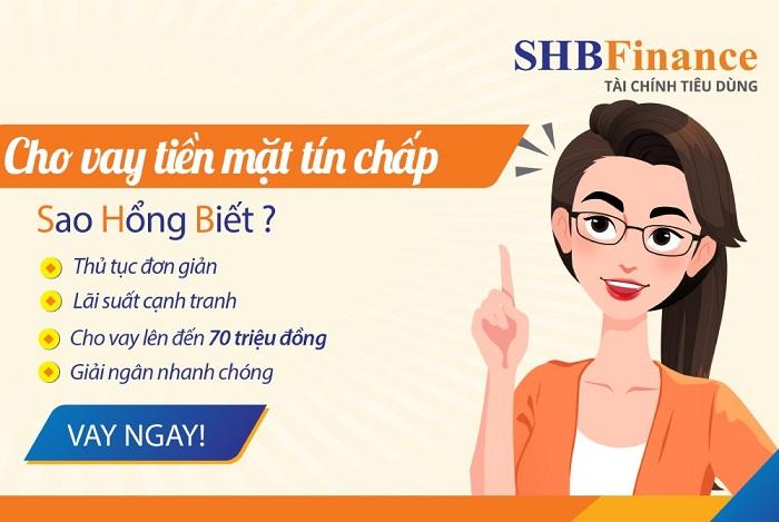 Quy trình vay tiền SHB Finance đơn giản
