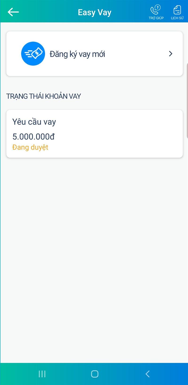 Hướng dẫn đăng ký vay tiền Viettelpay