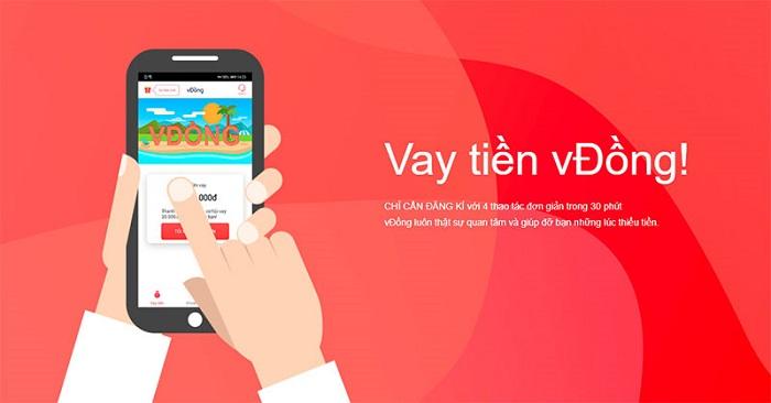 vĐồng là ứng dụng vay online có hạn mức vay cao
