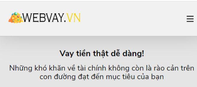 Vay tiền với hạn mức lên đến 10 triệu tại WebVay
