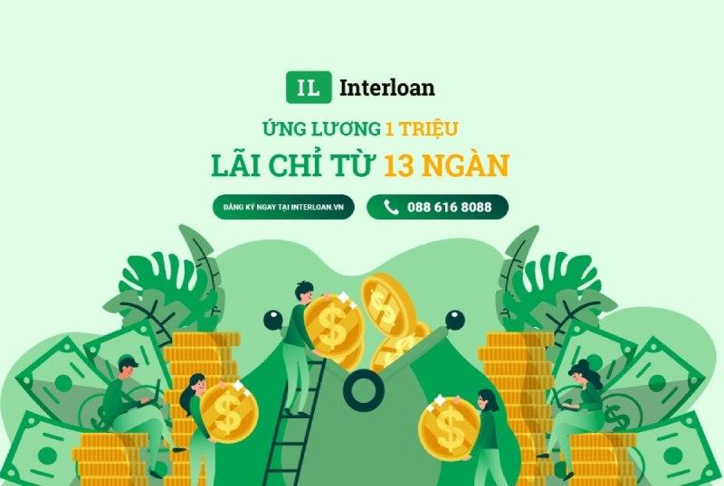 Interloan hỗ trợ ứng lương với lãi suất ưu đãi